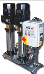 İMPO - NCV 15/09x2 5.5 HP Çift Pompalı Paslanmaz Paket Hidrofor ( Frekans Kontrollü )