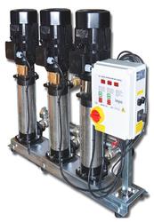 İMPO - NCV 15/10x3 7.5 HP Üç Pompalı Paslanmaz Paket Hidrofor ( Frekans Kontrollü )
